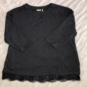 LOGO Lounge XL French Terry Lace Trim Top